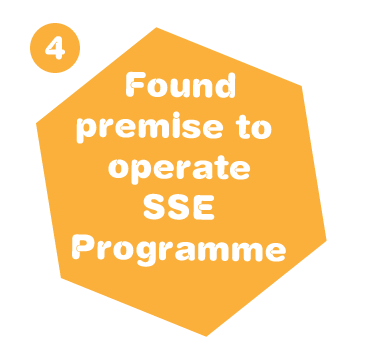 Found premise to operate SSE Programme